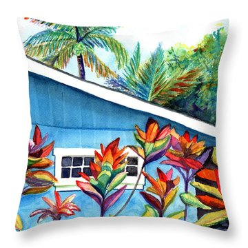 Hanalei Cottage Throw Pillow
