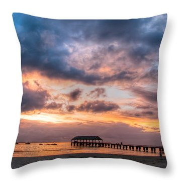 Hanalei Sunset Throw Pillow