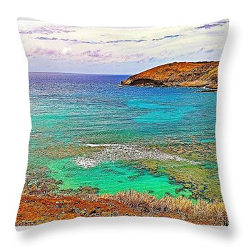 Hanauma Bay Throw Pillow