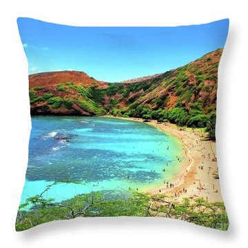 Hanauma Bay Nature Preserve Throw Pillow