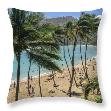 Throw Pillow featuring the photograph Hanauma Bay by Steven Sparks