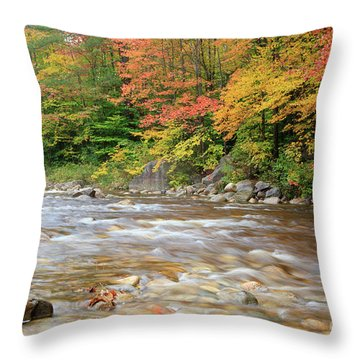 Hancock Branch - White Mountains New Hampshire  Throw Pillow