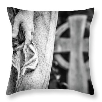 Hand And Cross Throw Pillow