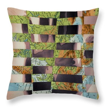 Hand Collage 2 Throw Pillow