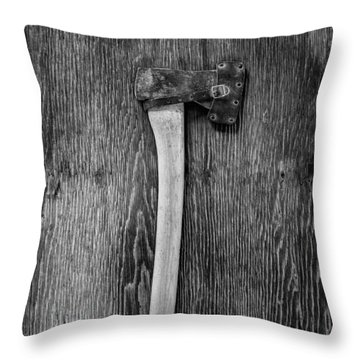 Hand Forged Axe Throw Pillow by YoPedro