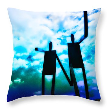 Hand In Hand Throw Pillow by Bill Cannon