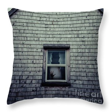 Hand In The Window Throw Pillow