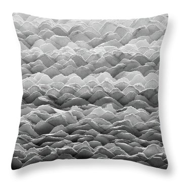 Throw Pillow featuring the photograph Hand Made Paper by Jim Hughes