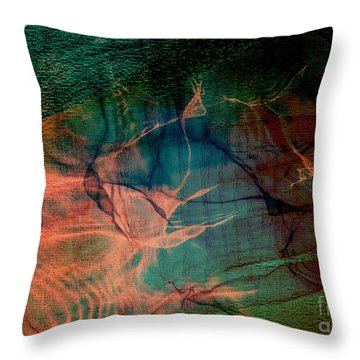 Hand Of A Healer - La Main Dun Guerisseur Throw Pillow by Fania Simon