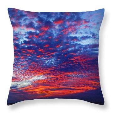 Hand Of God At Sunrise Throw Pillow