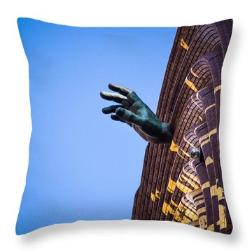 Hand On My Time Throw Pillow