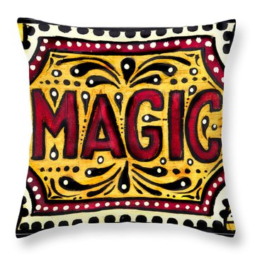 Throw Pillow featuring the painting Hand Painted Magic  by Nada Meeks