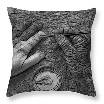 Hand Painting Throw Pillow