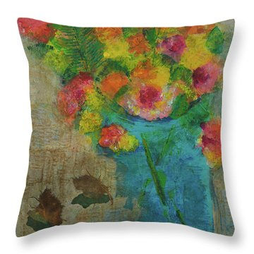Hand Picked Throw Pillow