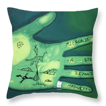 Hand Print Throw Pillow