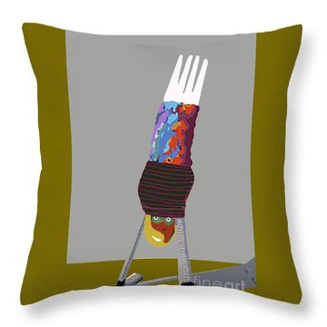 Hand Stand Throw Pillow