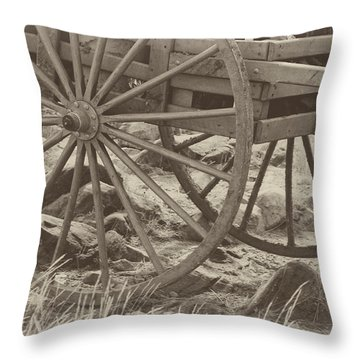 Handcart Throw Pillow