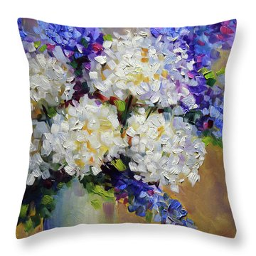 Handful Of White Throw Pillow