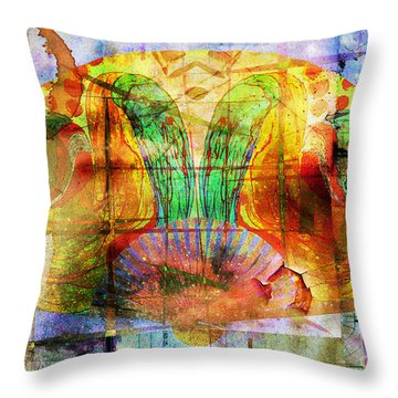 Handheld Fan Throw Pillow