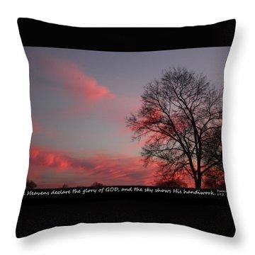 Handiwork Of God Throw Pillow by EricaMaxine Price