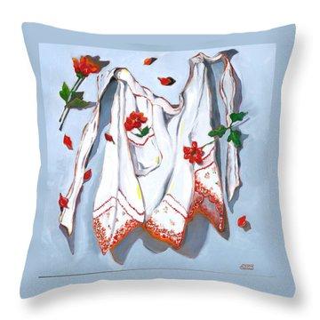 Handkerchief Apron Throw Pillow by Susan Thomas