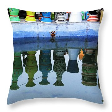 Handmade Clay Pots Throw Pillow