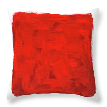 Handmade Vibrant Abstract Oil Painting Throw Pillow by GoodMood Art
