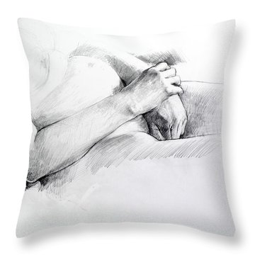 Hands Throw Pillow by Harry Robertson
