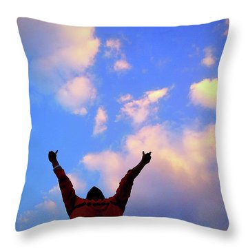 Hands In The Air Throw Pillow