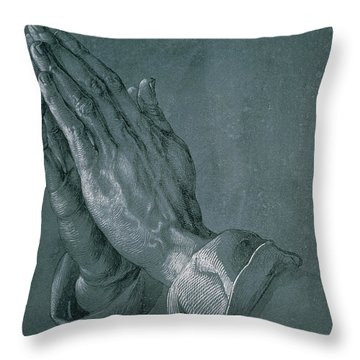 Hands Of An Apostle Throw Pillow