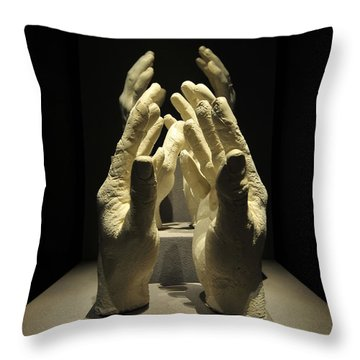 Hands Of Apollo Throw Pillow by David Lee Thompson
