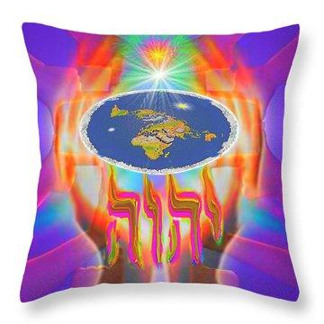 Hands Of Creation Throw Pillow