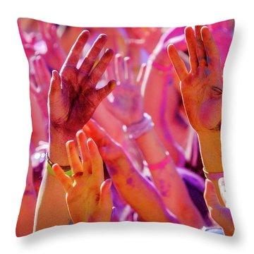 Hands Up-2 Throw Pillow