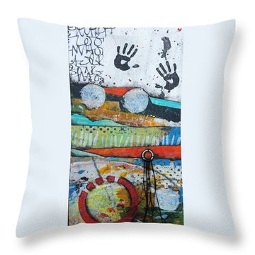 Hands Up In The Sky Throw Pillow