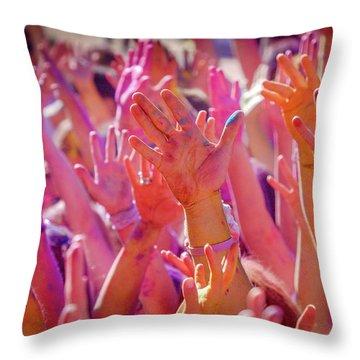 Hands Up Throw Pillow