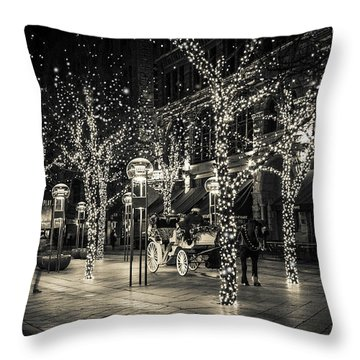 Handsome Cab In Monochrome Throw Pillow by Kristal Kraft
