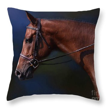 Handsome Profile Throw Pillow