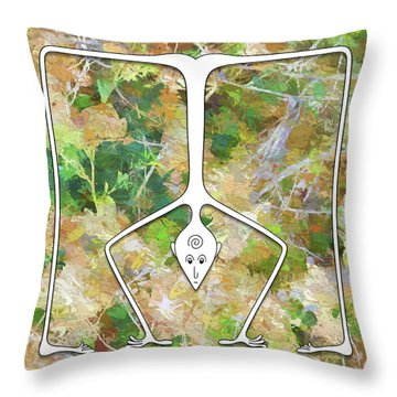 Handstand Throw Pillow