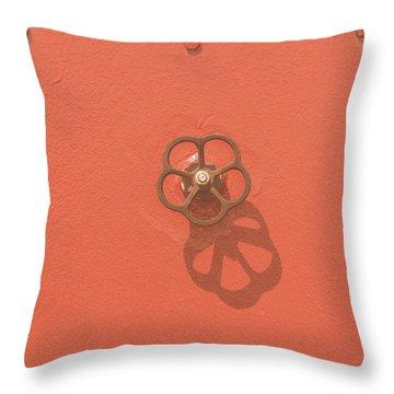 Handwheel - Orange Throw Pillow