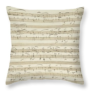 Handwritten Score For Waltz In Flat Major Throw Pillow
