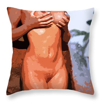 Handz Up Throw Pillow