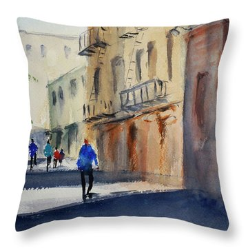 Hang Ah Alley Throw Pillow by Tom Simmons
