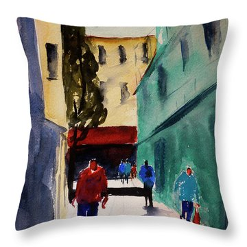 Hang Ah Alley1 Throw Pillow by Tom Simmons
