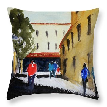 Hang Ah Alley2 Throw Pillow by Tom Simmons