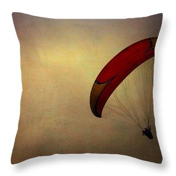 Hang Gliding In Peru Throw Pillow