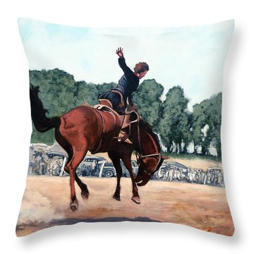 Hang On Hastings Throw Pillow