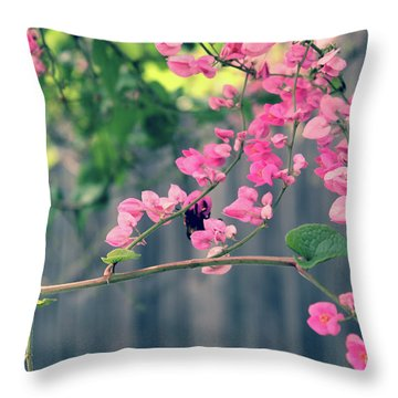 Throw Pillow featuring the photograph Hang On by Megan Dirsa-DuBois