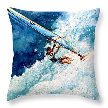Hang Ten Throw Pillow by Hanne Lore Koehler