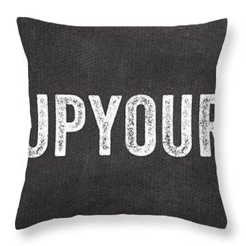 Hang Up Your Towel Throw Pillow
