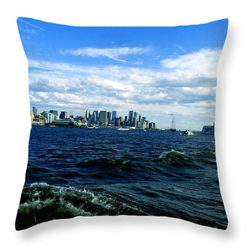 Hangin With Mermaids Throw Pillow